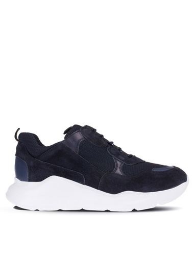 Deery Hakiki Deri Sneakers Lacivert